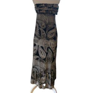 Eyelash Couture  printed sleeveless maxi dress
